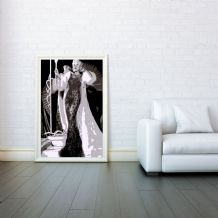 Mae West, Decorative Arts, Prints & Posters, Wall Art Print, Poster Any Size - Black and White Poster